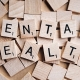 Scrabble letters used to spell out mental health