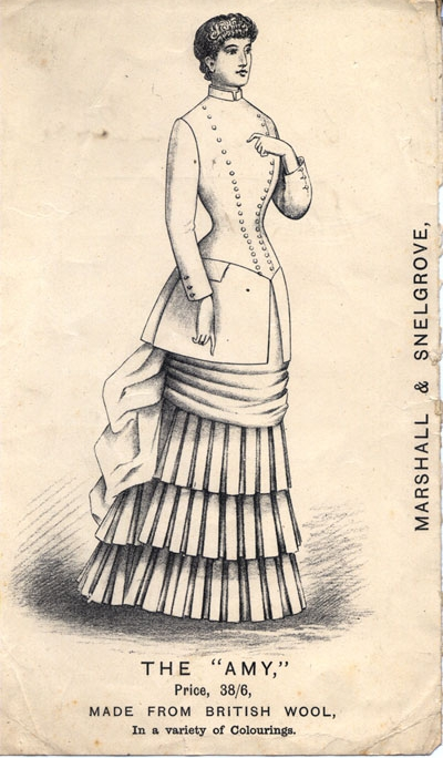 An illustration of an outfit called 'The Amy' from Marshall & Snelgrove department store