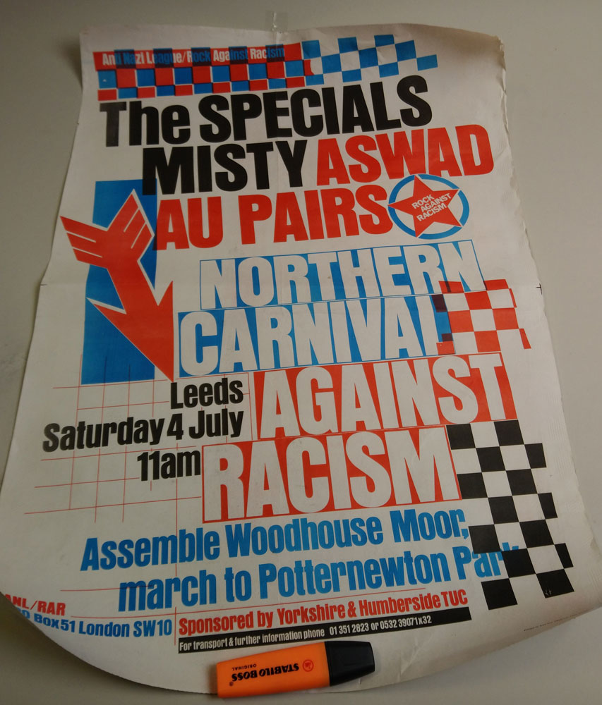 Rock Against Racism poster.