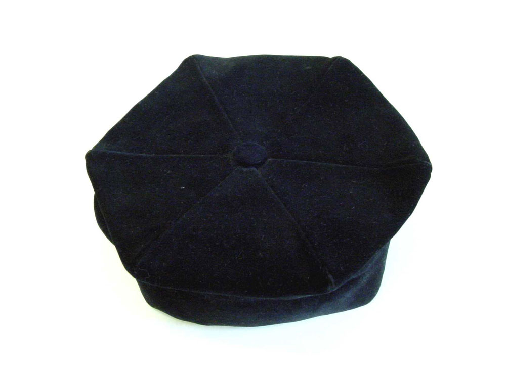 Jewish cantor's hat, from the United Hebrew Congregation, Leeds, about 1920