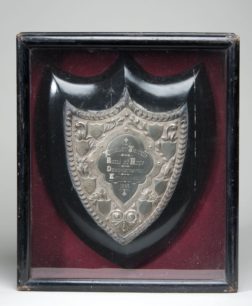 Band of Hope Demonstration shield won by the Hunslet Temperance Hall Choir in 1893, 1894 and 1898.