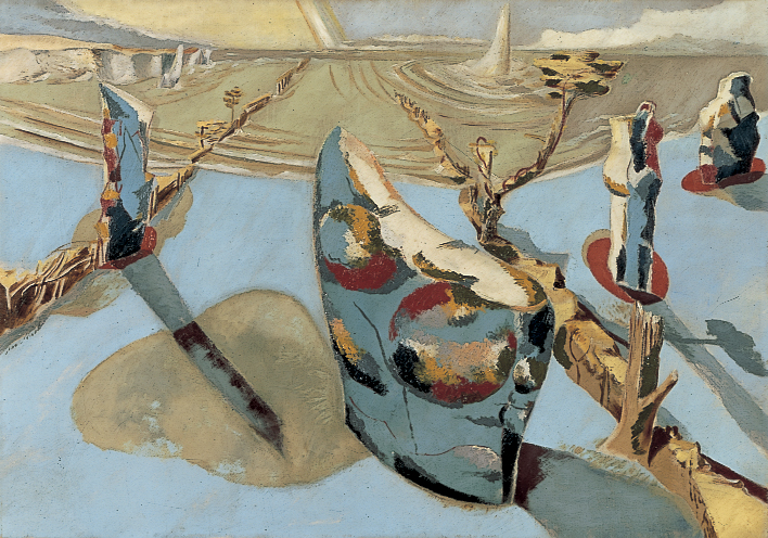 Paul Nash's painting titled The Circle of the Monoliths