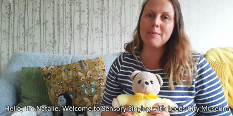 still from a youtube video for sensory singing